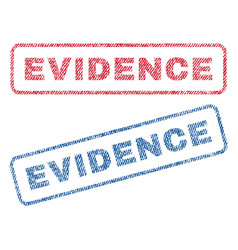evidence textile stamps vector image