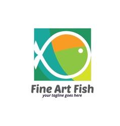 Fine Art Fish Logo vector image