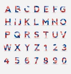 Flag Font vector image