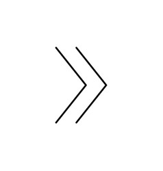 forward line icon vector image