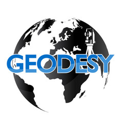 geodesy and the globe vector image