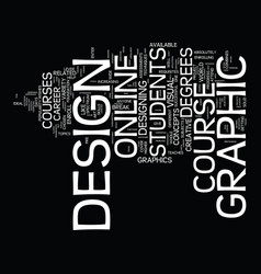 Graphic design course text background word cloud vector