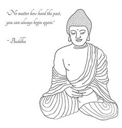 Hand drawn Buddha vector