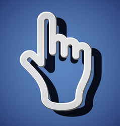 hand with warning forefinger symbols vector image