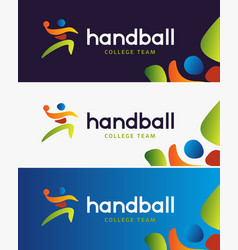 handball banner abstract colorful vector image