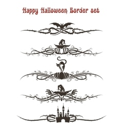 Happy Halloween Divider Set vector image