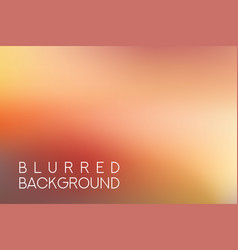 Horizontal wide red blurred background vector