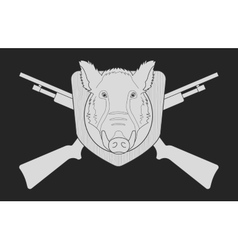 Hunting emblem chalk vector