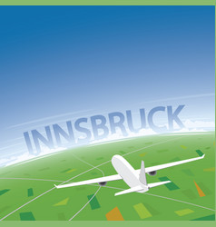 Innsbruck flight destination vector