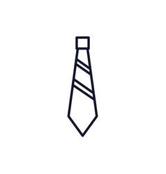 Isolated necktie icon line design vector