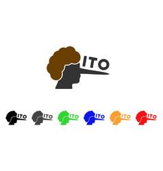 ito lier icon vector image