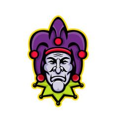 Jester head mascot vector