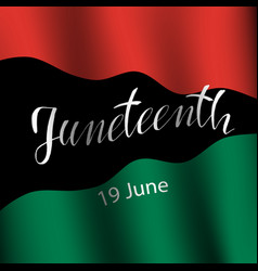 juneteenth celebrate freedom vector image