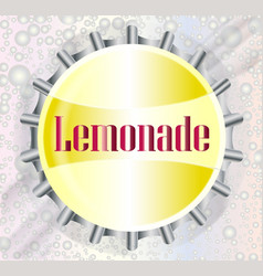 Lemonade bottle cap with bubbles vector