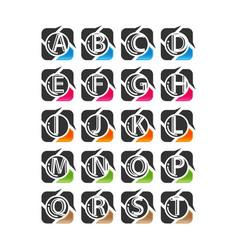 Letter set logo initial design logo a b d e vector