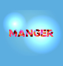 manger theme word art vector image