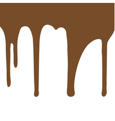 Melting chocolate dripping on white background vector