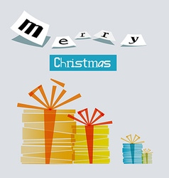 Merry Christmas Gift Boxes vector image vector image