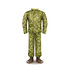 military uniform isolated on white vector image vector image