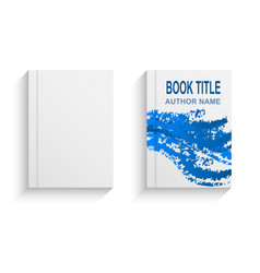 modern abstract book cover design template vector image