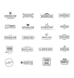 modern minimal business logos brand emblem vector image