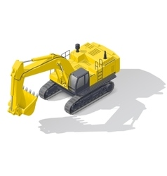 Modern quarry tracked excavator icon vector