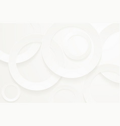 Modern white backgrounds 3d circle papercut layer vector