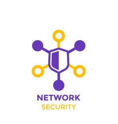 Network security icon logo on white vector