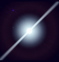 Neutron star makes radiation ray waves in the deep vector