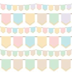 Pastel bunting vector