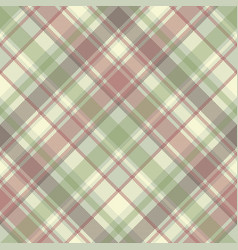 Pastel color check plaid fabric seamless pattern vector