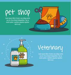 pet shop set icons vector image
