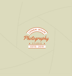 Photography badge or label design vector