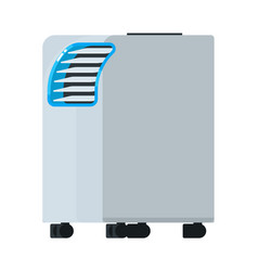 Portable air conditioning unit equipment isolated vector