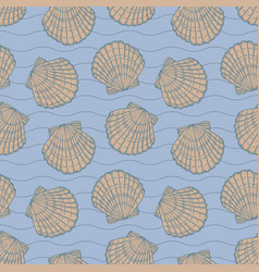 Seashells and stripes vector