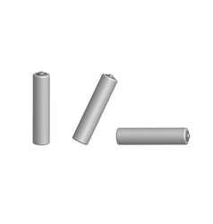 set of batteries in 3d view vector image