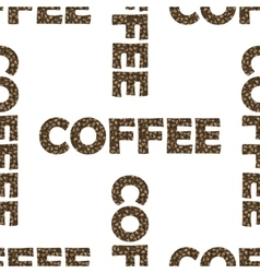 Set of Coffee Cups Seamless Pattern vector image