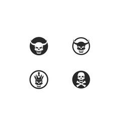 Skull devil logo vector