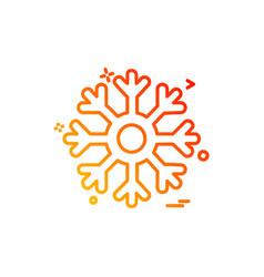 snowflakes icon design vector image