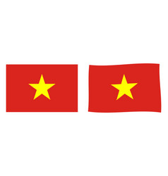 socialist republic vietnam flag simple and vector image