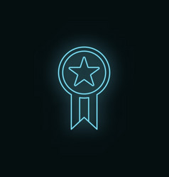 star medal neon icon web development icon element vector image