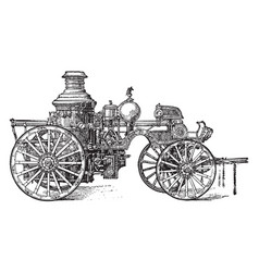 Steam engine vintage vector