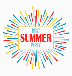 summer party - poster card invitation banner vector image