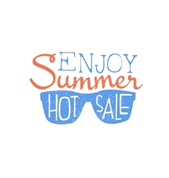 Summer Sale Colorful Ad vector image