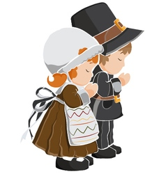 Thanksgiving day Pilgrims vector image
