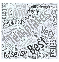Tools for Adsense Word Cloud Concept vector