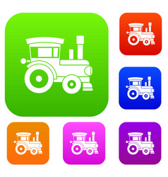 toy train set collection vector image