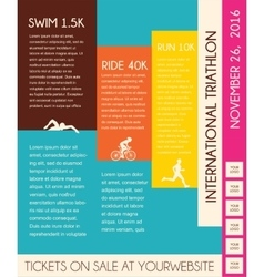 Triathlon flat design poster vector