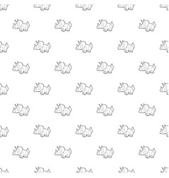 triceratops pattern seamless vector image