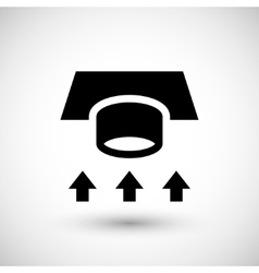 Ventilation duct icon vector